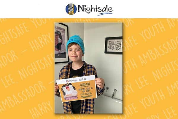 Harry Lee (13), Nightsafe Youth Ambassador
