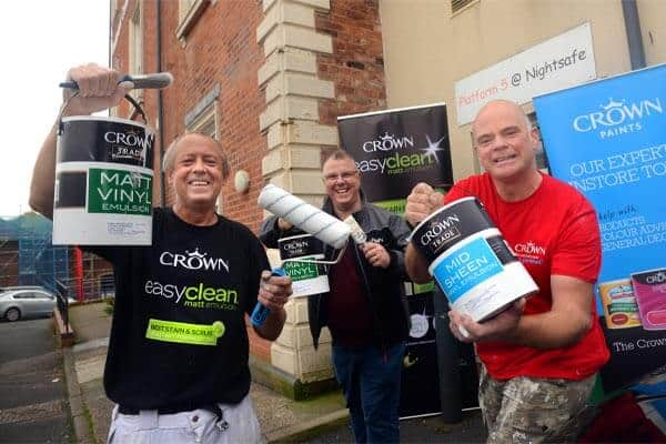 Crown Paints bring colour to Nightsafe's night shelter