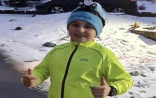 11 year old James McGregor is spending February running 150K for Nightsafe