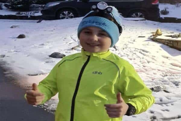 11 year old James McGregor is spending February running 150K for Nightsafe